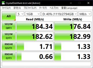 Seagate 3TBはHDDとしては普通。