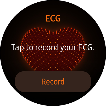 ECGのウィジェットを選択する